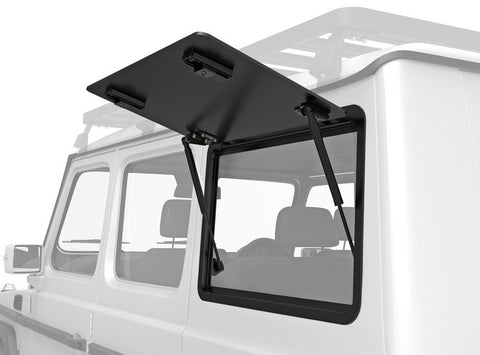 G-Wagen Gullwing Aluminum Window lockable latches for side cargo access