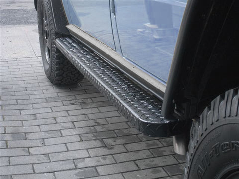 Aluminum Running Boards - for LWB W463 G-Wagen