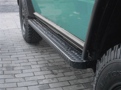 Aluminum Running Boards - Rock Slider Compatible - for SWB W463 G-Wagen