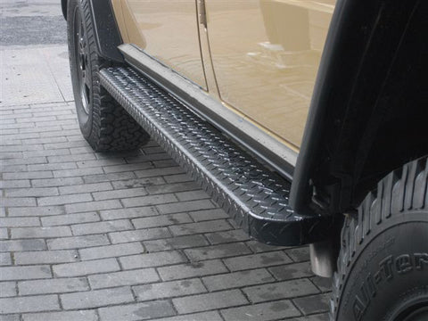 LWB G-wagon Aluminum Running Boards with RS Bracket Kit