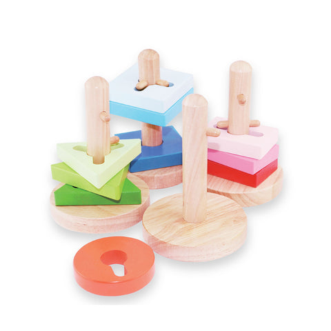 Toy - Cognitive Wooden Blocks