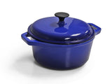 Cast Iron Single FL Med Casserole - Blue