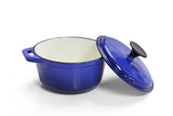 Cast Iron Single FL sml Casserole - Blue