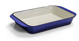 Cast Iron Single FL Roasting Pan - Blue