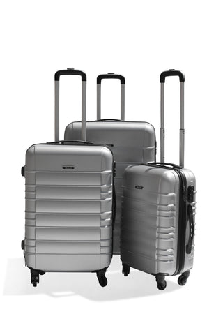 Luggage - Medoodi 3pc ABS 1309 - Silver