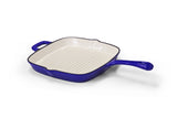 Cast Iron Square Skillet Pan - Blue