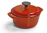 Cast Iron Single FL Med Casserole Orange