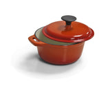 Cast Iron Single FL sml Casserole Orange