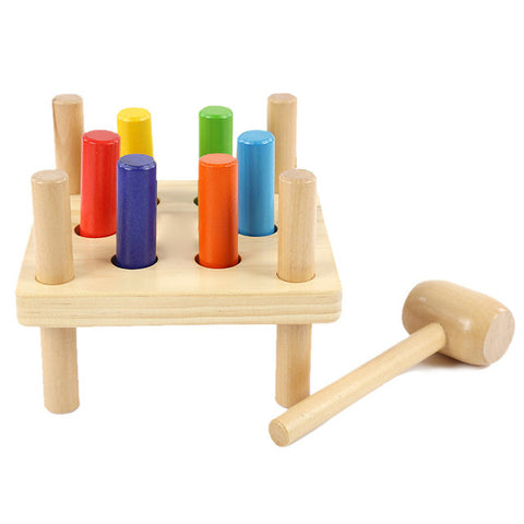 Wooden Toy - Hammer & Pegs