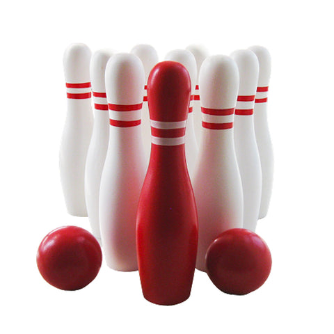 Wooden Bowling Game Skittles
