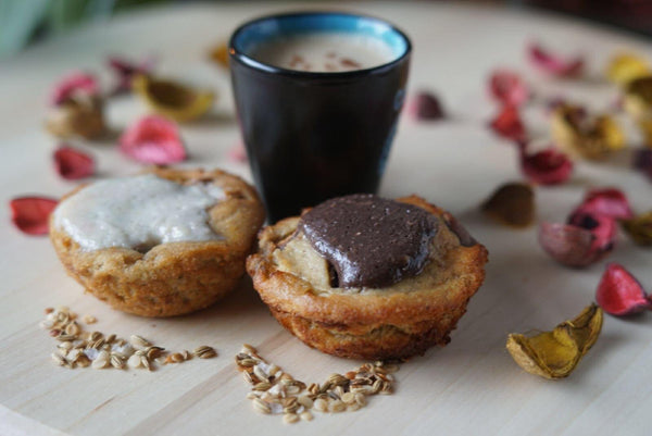 4 Paleo Banana Protein Muffins with G-Butter NL