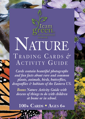 Donate $20 or $30 and receive Nature Trading Cards