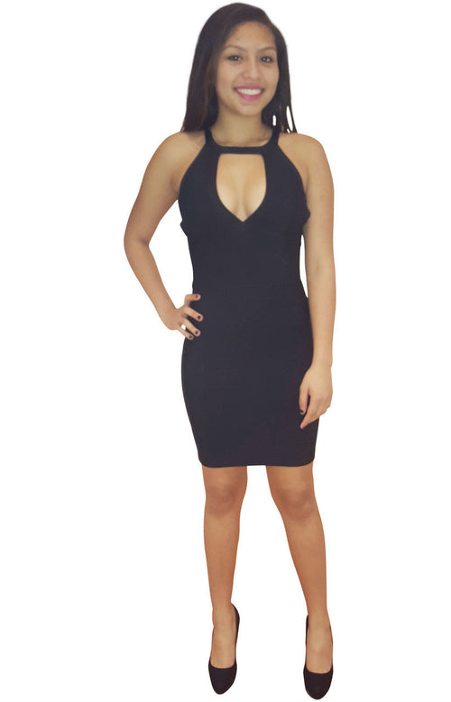 Cut out Back Bandage Dress