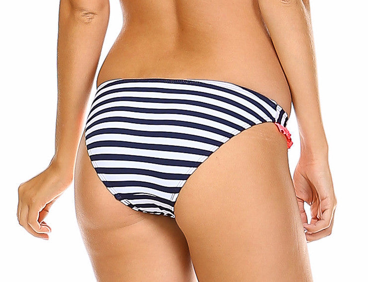 Striped Retro Bikini Bottom