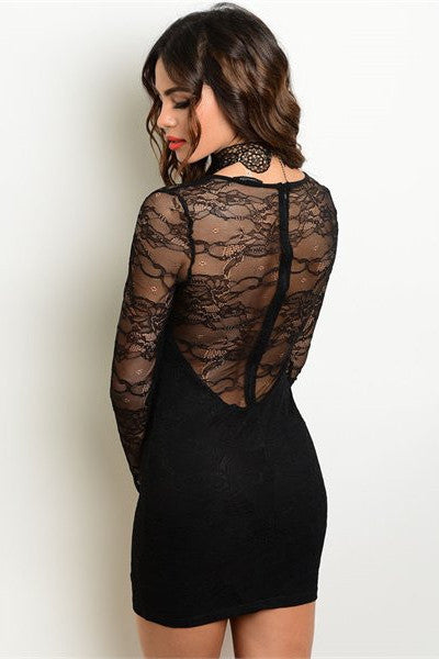 Lace Back Bodycon Dress