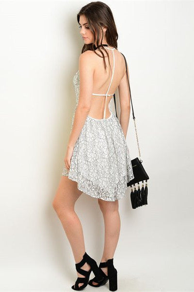 Asymmetrical Hem Dress with open back