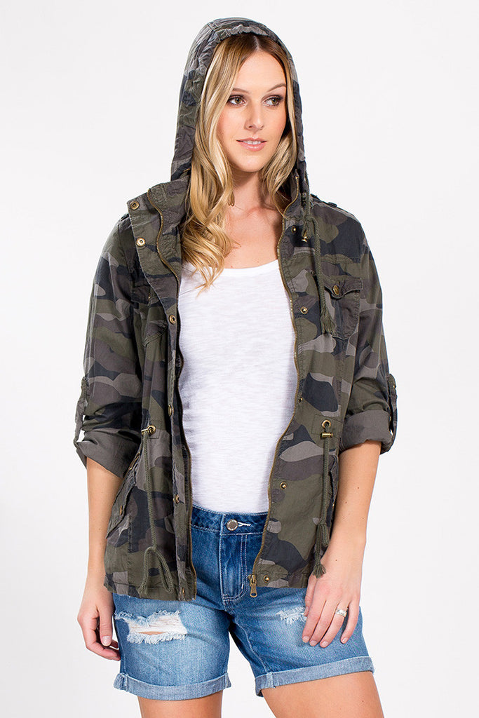 Hooded Utility Jacket - Camo