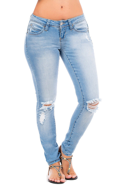 Distressed Knee Skinny Jeans