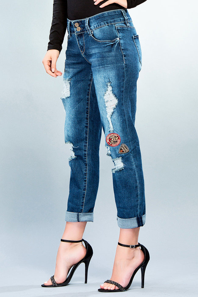 Boyfriend Patch Jeans