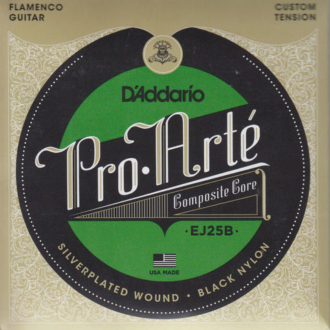 Image of D'Addario / Pro Arté Composite Core Flamenco Black Nylon / Custom Tension (EJ-25-B)