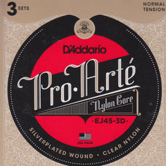 Image of D'Addario / Pro Arté Nylon Core / Normal Tension 3-Pack (EJ-45-3D)