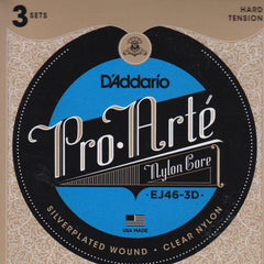 Image of D'Addario / Pro Arté Nylon Core / Hard Tension 3-Pack (EJ-46-3D)