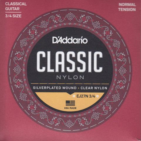 Image of D'Addario / Classic Nylon / 3/4 Scale Normal Tension (EJ-27-N-3/4)