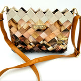 """SERENA"" Messenger & Cross Body Bag Degrade Brown - By Hands from Claudia"