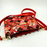"""SERENA"" Messenger & Cross Body Bag Red - By Hands from Claudia"