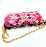 """IRIS"" Purse with Gold Chain-Pink - By Hands from Claudia"