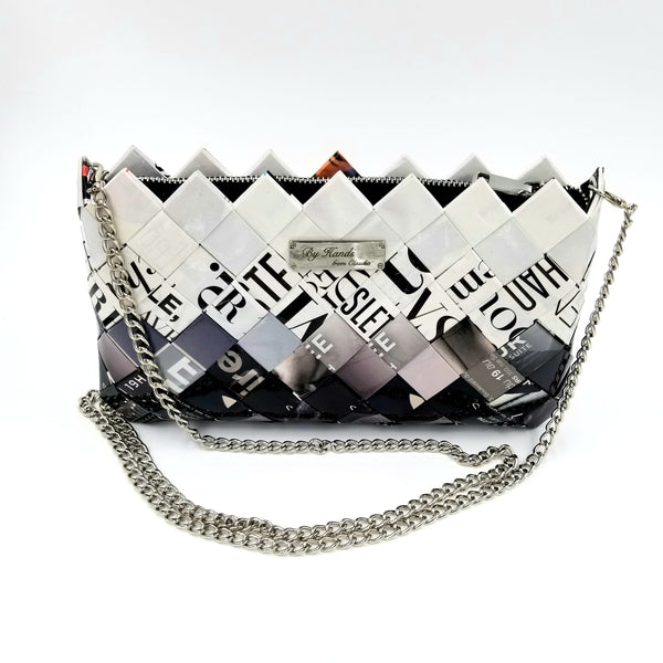 """IRIS"" Purse with Silver Chain Dégradé - By Hands from Claudia"