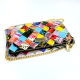 """IRIS"" Purse with Gold Chain-Colorful - By Hands from Claudia"