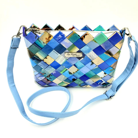 """SERENA"" Messenger & Cross Body Bag Blue - By Hands from Claudia"