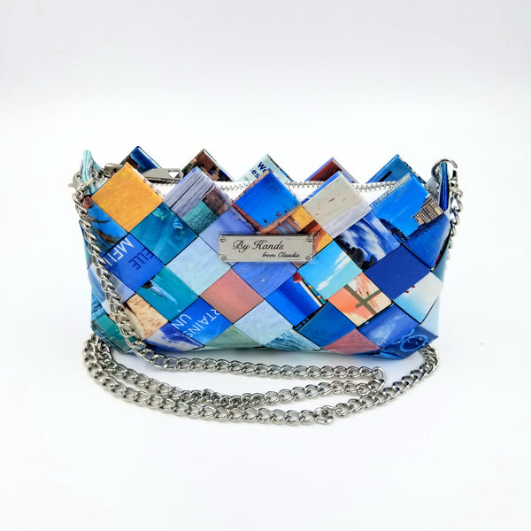 """LILI"" Purse Blue - By Hands from Claudia"