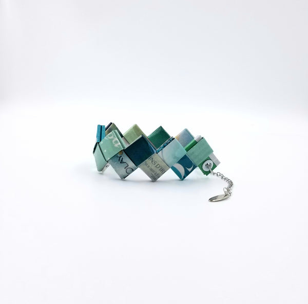 Elena Bracelet / Book Sign - Turquoise - By Hands from Claudia