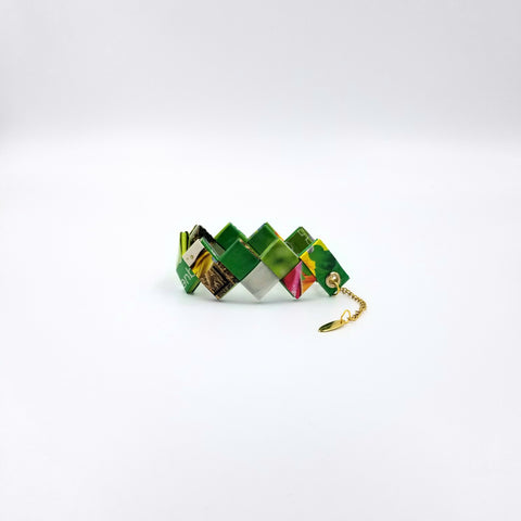 Elena Bracelet / Book Sign - Green - By Hands from Claudia