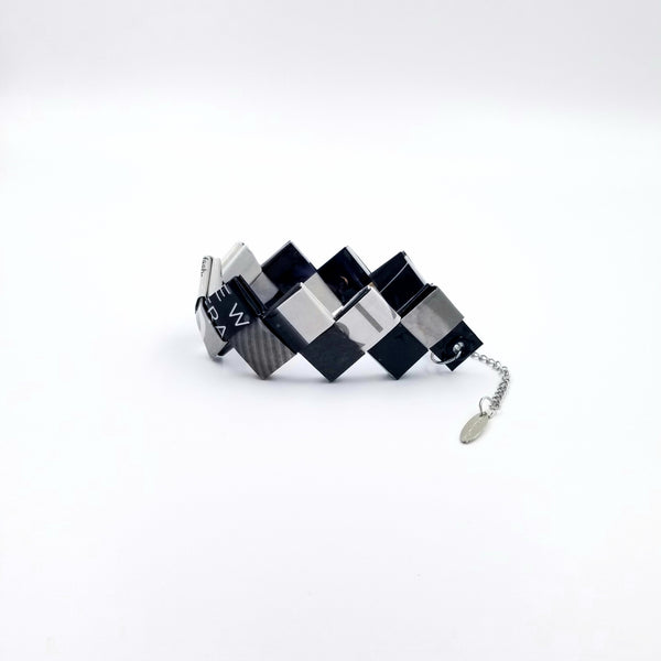 Elena Bracelet / Book Sign - Black&White - By Hands from Claudia