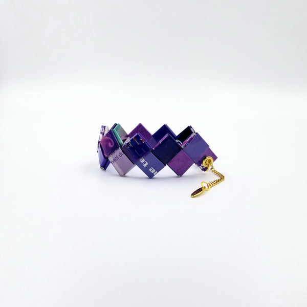 Elena Bracelet / Book Sign - Purple - By Hands from Claudia