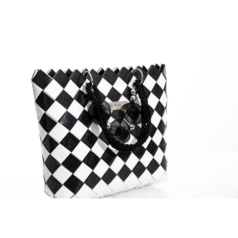 """CLARA"" Unique Handmade Handbag Black&White - By Hands from Claudia"