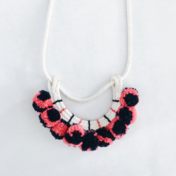 Pom Pom Rope Necklace
