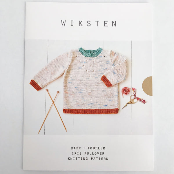 Baby + Toddler Iris Pullover Knitting Pattern