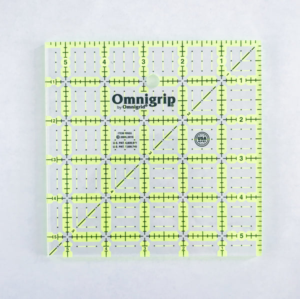 Omnigrip by Omnigrid  Neon Ruler 5 1/2-inch square