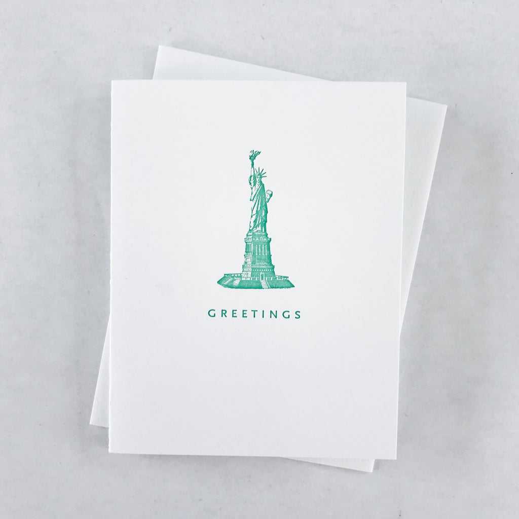 Little Greetings Statue of Liberty Card