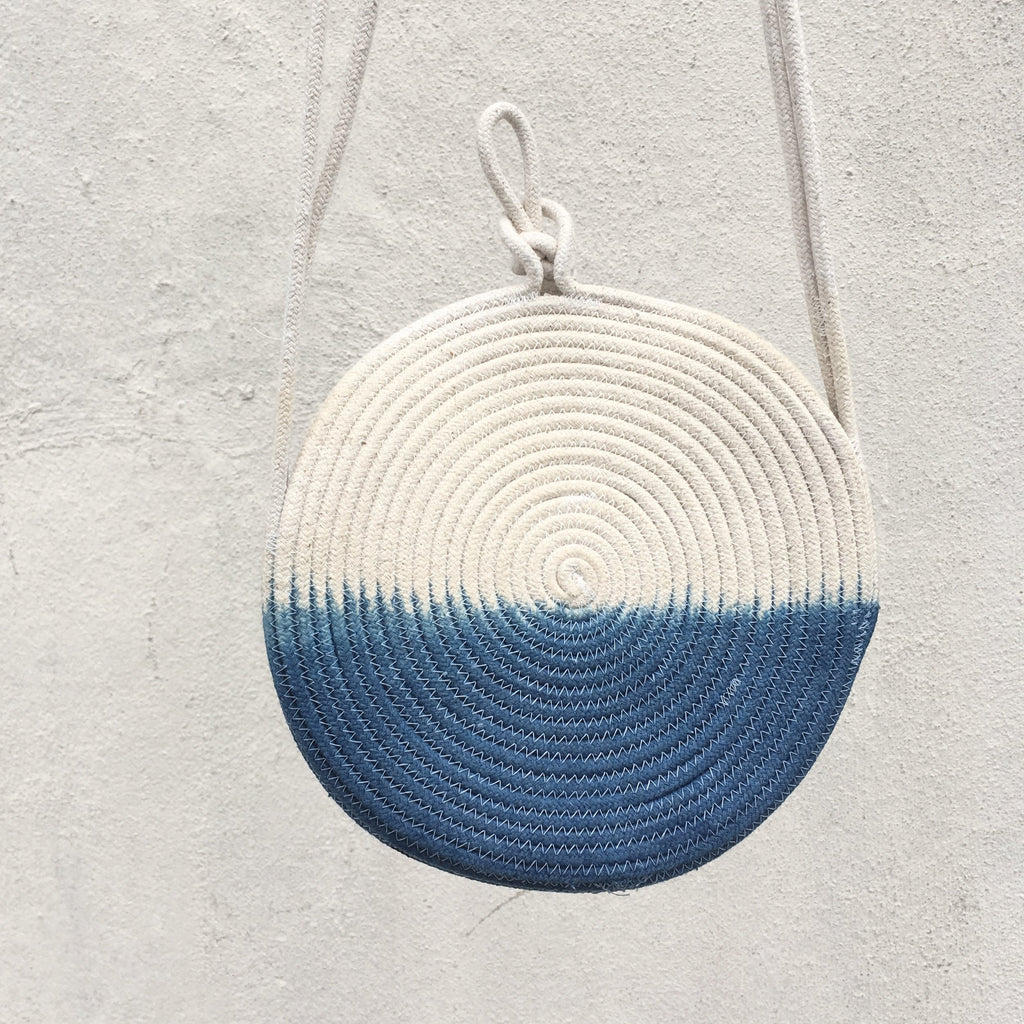 Small Indigo Rope Purse