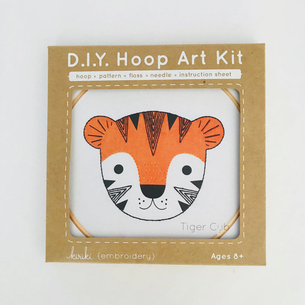 Tiger Cub - Hoop Art Kit