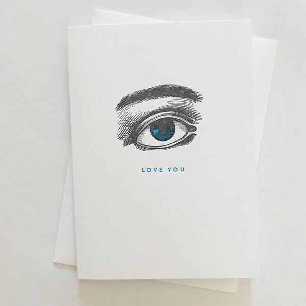 Eye Love You Painted Scene Card