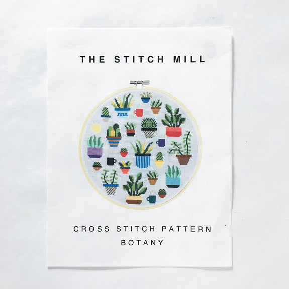 Botany Modern Cross Stitch Pattern
