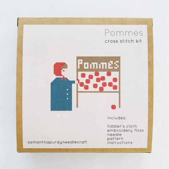 Pommes Cross Stitch Kit