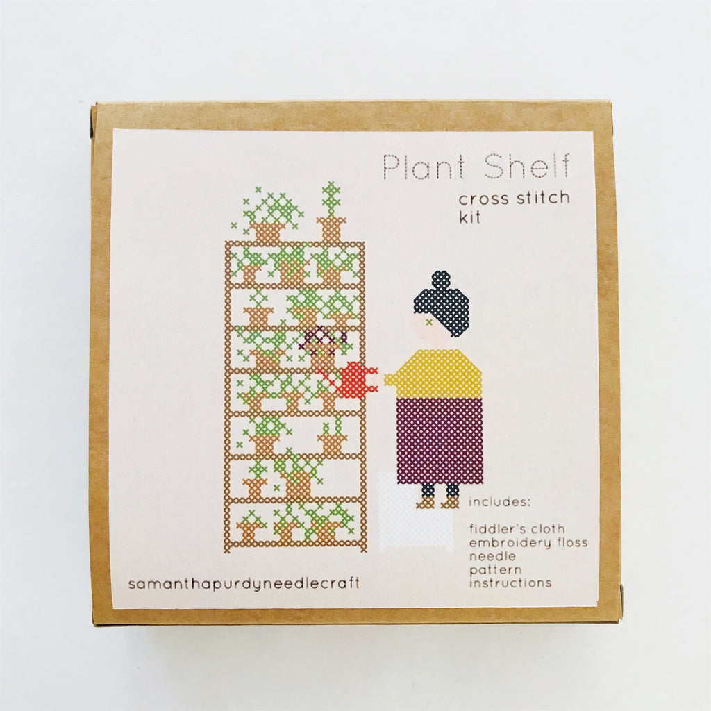 Plant Shelf Cross Stitch Kit