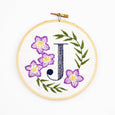Floral Monogram Embroidery Kit (10 Letters)